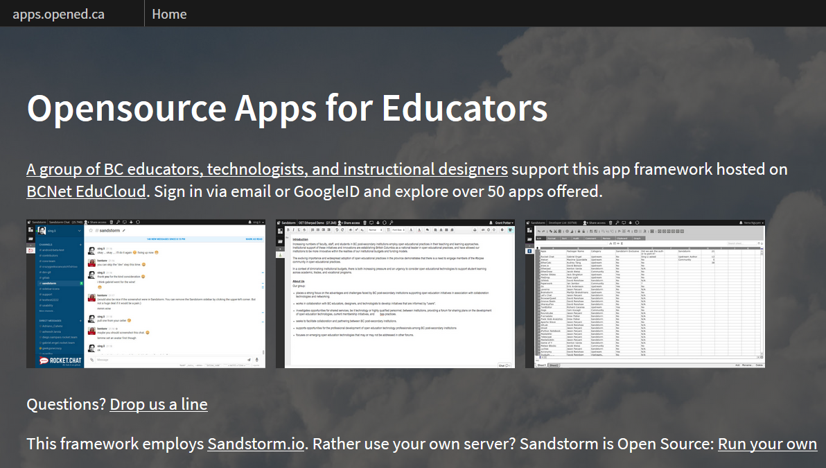 Stephen's Web ~ Opensource Apps for Educators ~ Stephen Downes